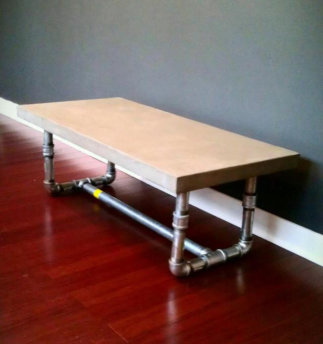 pipe leg coffee table