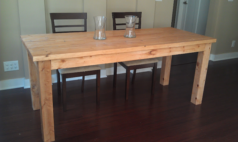 Diy farmhouse dining table plans wooden pdf complete for Diy dining table