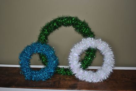DIY garland wreaths