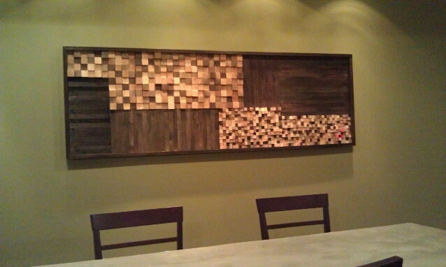 How to make wood mosaic wall art dave and kelly davis for How to make diy wall art