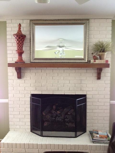updating brick fireplace