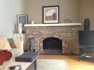 fireplace before whitewash