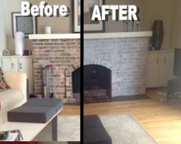 Last week I posted some fireplace makeovers that may inspire you to throw (or rather brush) some paint over your fireplace bricks to give the room a nice CLEAN look. And some of you are probably SCARED to do that. I know